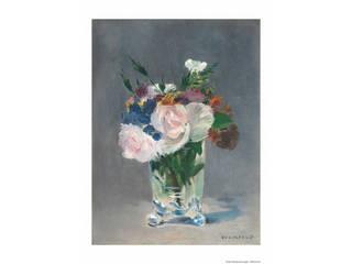 プリモアート マネ「ガラス花瓶の中の花」  A3_84ガラス花瓶