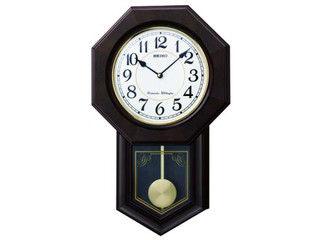 SEIKO/セイコークロック 飾り振り子付き 木枠 掛け時計 【RQ325B】