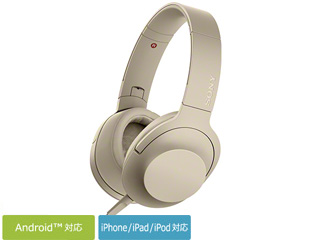 SONY/ソニー MDR-H600A-N(ペールゴールド) h.ear on 2 ステレオヘッドホン