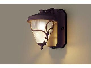Panasonic/パナソニック LGWC80240LE1 LEDポーチライト ダークブラウンメタリック【電球色】【明るさセンサ付】【壁直付型】