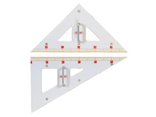 黒板 ホワイトボード仕様の教師用三角定規 共栄プラスチック 数量限定 GN-120 クリア 営業 メタクリル教師用三角定規