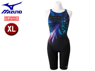 mizuno/ミズノ N2MG8745-92 ストリームアクティバ ハーフスーツ オープン レディース 【XL】 (ブラック×ブルー)