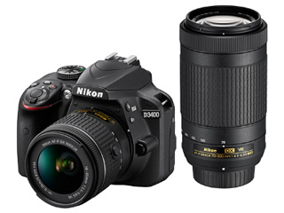 Nikon/ニコン D3400 ダブルズームキット(ブラック)