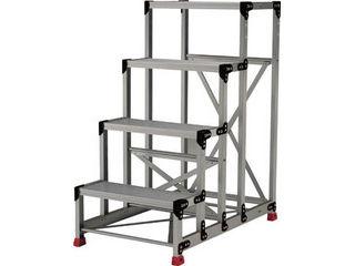 TRUSCO/トラスコ中山 【代引不可】作業用踏台 アルミ製・高強度タイプ 5段 TSF-51015