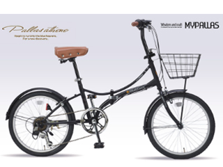 MyPallas/マイパラス SC-08 PLUS 折畳み自転車 6段変速 オールインワン 【20インチ】 (マットブラック) メーカー直送品のため【単品購入のみ】【クレジット決済のみ】 【北海道・沖縄・九州・四国・離島不可】【日時指定不可】商品になります。