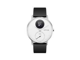 ・通常の腕時計とデザインが非常に近い Withings ウィジングズ ウェアラブル端末(ウォッチタイプ)Steel HR 36mm HWA03-36WHITE-ALL-JP White ・「Nokia」から「Withings」にブランドチェンジを行った一本 ・1度の充電で最大25日間