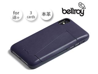 Bellroy/ベルロイ 本革iPhone8プラスケース【ネイビー】■フォンケース3カード/Phone Case 3Card/PCPJ スマホケース アイフォン iphoneケース レザー カード収納 SIM