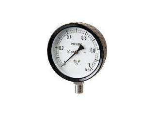 MIGISHITA/右下精器製造 ステンレス圧力計(A枠立型・φ100) 圧力レンジ0~0.10MPa G411-261-0.1MP