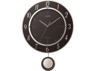 RHYTHM/リズム時計 8MX403SR23 電波掛時計 【トライメテオDX】 連続秒針/飾り振子/スワロフスキー・エレメント 【RPS160324】