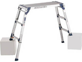 ALINCO/アルインコ 【代引不可】天板ワイド脚伸縮式足場台 PXGE-710WX