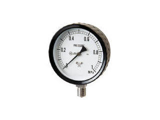 MIGISHITA/右下精器製造 ステンレス圧力計(A枠立型・φ100) 圧力レンジ0~0.25MPa G411-261-0.25MP