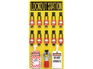 Panduit/パンドウイットコーポレーション ロックアウトステーションキット 10人用 PSL-10SWCA