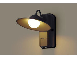 Panasonic/パナソニック LGWC80246LE1 LEDポーチライト オフブラック【電球色】【明るさセンサ付】【壁直付型】
