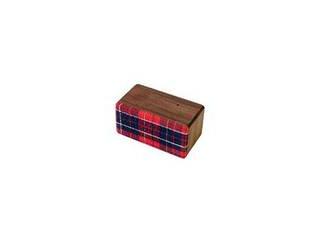 ヨシモク SOUNDFLY(サウンドフライ)Mini(ミニ) Bluetooth 木製ワイヤレススピーカー SF-M WR ウォールナット×赤チェック 徳島県