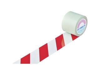 J.G.C./日本緑十字社 ガードテープ(ラインテープ) 白/赤(トラ柄) 100mm幅×100m 148143
