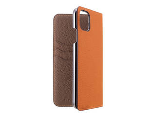 LORNA PASSONI ロルナパッソーニ LORNA PASSONI - German Shrunken Calf Folio Case for iPhone 11 Pro Max [Orange×Taupe] LPORTFLIP1965 【正規代理店】 【品質保証ポリシー付きケース】