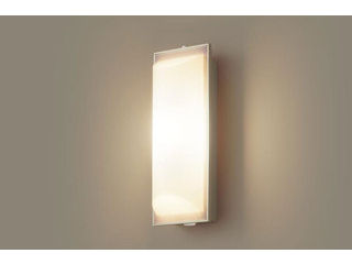 Panasonic/パナソニック LGWC80201LE1 LEDポーチライト プラチナメタリック【電球色】【明るさセンサ付】【壁直付型】