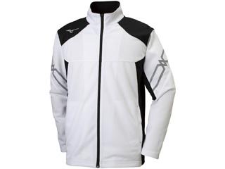 mizuno/ミズノ ウォームアップジャケット ユニセックス 3XL (ホワイト×ブラック) 32MC9110-01