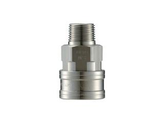 NAGAHORI/長堀工業 NAC/ナック クイックカップリング TL型 ステンレス製 メネジ取付用 CTL16SM3