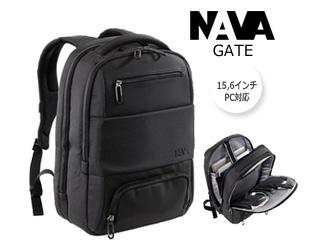 NAVA DESIGN/ナヴァデザイン PC対応■バックパック 【ブラック】最大15.6インチ バッグ ビジネス 鞄 イタリア