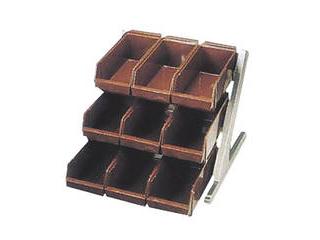 DXオーガナイザー 3段3列 ブラウン