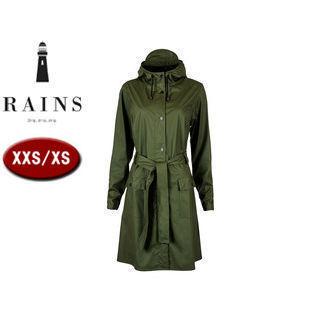 RAINS/レインズ カーブジャケット レインジャケット 止水ファスナー 【XXS/XS】 (グリーン) 防水 撥水 レインコート 雨 雪 男女兼用 雨具 合羽