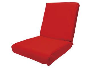 低反発レザー座椅子 レッド DS3L RD