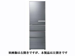 【標準配送設置無料!】 AQUA/アクア 【まごころ配送】AQR-SV38HL-S 冷蔵庫 [左開きタイプ]【375L】(チタニウムシルバー)
