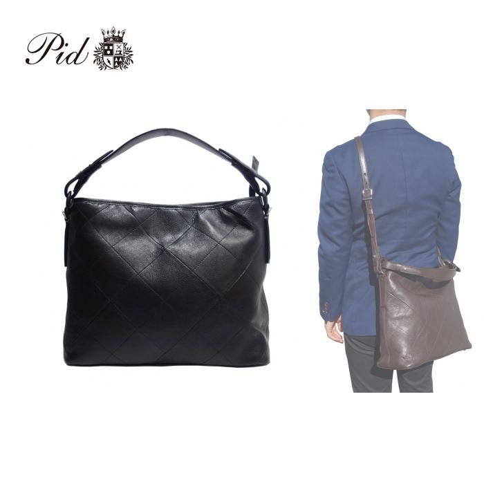 PID/ピー・アイ・ディー PAL103 Crier/クリエ メンズ 本革 2way ショルダーバッグ (ブラック)