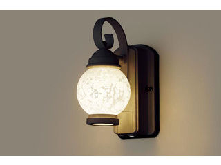 Panasonic/パナソニック LGWC80251LE1 LEDポーチライト オフブラック【電球色】【明るさセンサ付】【壁直付型】