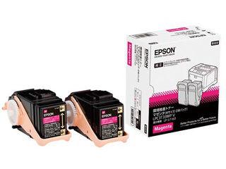EPSON/エプソン LP-S7160シリーズ用 環境推進トナー/マゼンタ/Mサイズ2本パック(印刷可能ページ:約5300ページ) LPC3T33MPV