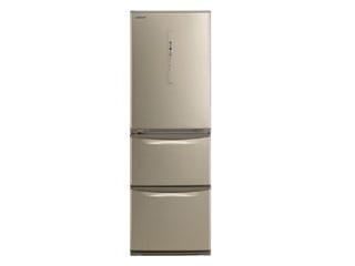 【標準配送設置無料!】 Panasonic/パナソニック 【まごころ配送】NR-C37HCL-N ノンフロン冷凍冷蔵庫 [左開きタイプ]【365L】(シルキーゴールド)