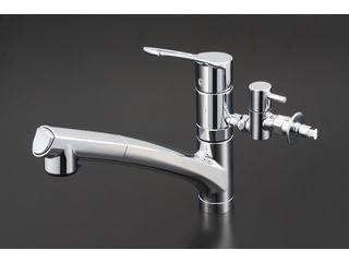 KVK/ケーブイケー 流し台シャワー混合栓 分岐付 KM5021TTU