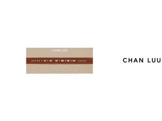 CHAN LUU/チャンルー セミプレシャスストーン レザーラップ NS-13288(AQUA TERRA) チャンルーオリジナル巾着袋付き!