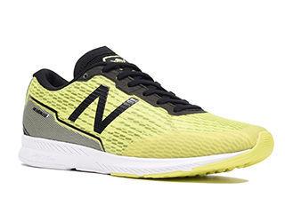 NewBalance/ニューバランス NB HANZO T M L2 24.5cm ランニングシューズ メンズ イエロー/ブラック MHANZTL2-2E