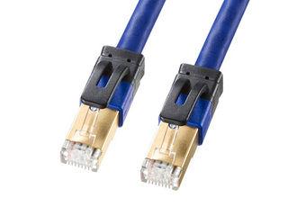 サンワサプライ カテゴリ7A LANケーブル ブルー 15m KB-T7A-15BL