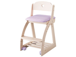 KOIZUMI/コイズミ 【Lovely Chair/木製ラブリーチェア】KDC-035WW HR ハートパープル