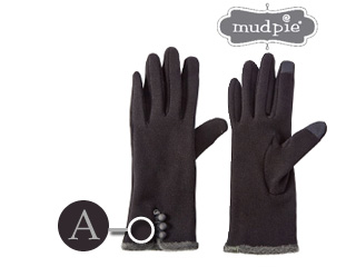 mudpie/マッドパイ スマートスクリーン対応■イニシャル刺繍入り手袋