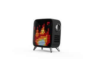 Divoom ブルートゥーススピーカー TIVOO-MAX BLACK 立体的で臨場感あふれるサウンド レトロテレビ型Bluetoothスピーカー