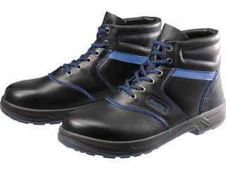Simon/シモン 安全靴 編上靴 SL22-BL黒/ブルー 25.0cm SL22BL-25.0