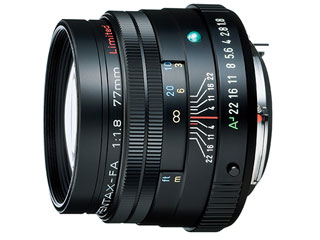PENTAX/ペンタックス smc PENTAX-FA77mmF1.8 Limited ブラック(ケース、フード付) 【お得なセットもあります】 【pentaxlenscb】