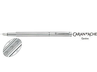 CARAN dACHE/カランダッシュ 【Ecridor/エクリドール】シェブロン シルバー 万年筆 B 0958-296