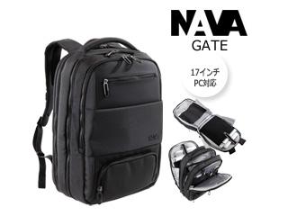 NAVA DESIGN/ナヴァデザイン バックパック NAVA Gate Backpack travel 17  【ブラック】 バッグ ビジネス 鞄 イタリア バックパック リュック  仕事 旅行 機能的 トラベルバッグ