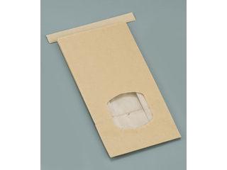mizuno/水野産業 クラフト窓付きティンタイ袋(ワイヤー付)/M(400枚入)