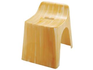 腰高風呂椅子 白木塗 ABS樹脂 140-203-60