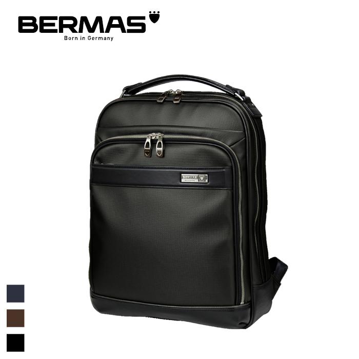 BERMAS/バーマス 60038 M.I.J -JAPAN MADE- メンズ ビジネスリュック 40cm MADE IN JAPAN(ブラック)