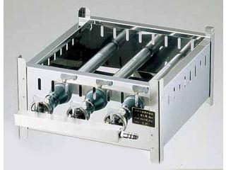 ※栓の数は30~39cmが3個、42~50cmが4個になります。 SA18-0業務用角蒸器専用ガス台/42cm用 LPガス