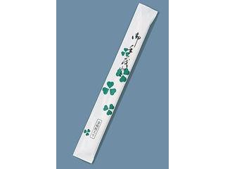 割箸完封 クローバー楊枝入り 白樺小判/(1ケース500膳×8袋入)
