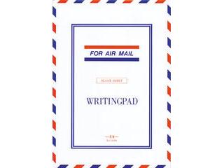 薄いがしっかりしたタイプ紙を使用したエアメール便箋です ペンの滑りも良く 初売り カラーインクの発色も良い優れものです エムディーエス エアメール 無罫 便箋 割引 14-064