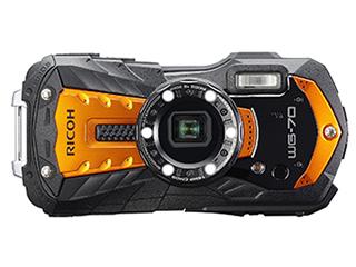 【お得なセットもあります】 RICOH/リコー RICOH WG-70(オレンジ) 防水コンパクトデジタルカメラ フルHD動画/光学5倍ズーム/デジタル顕微鏡モード搭載/CALSモード搭載